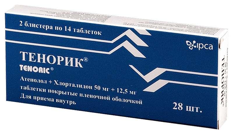 ТЕНОРИК таблетки 50 мг+12,5 мг 28 шт.