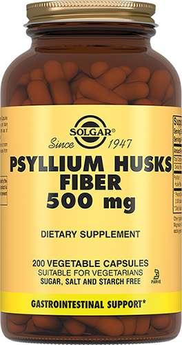 Солгар псиллиум пищевые волокна капсулы 500мг 200 шт., фото №1