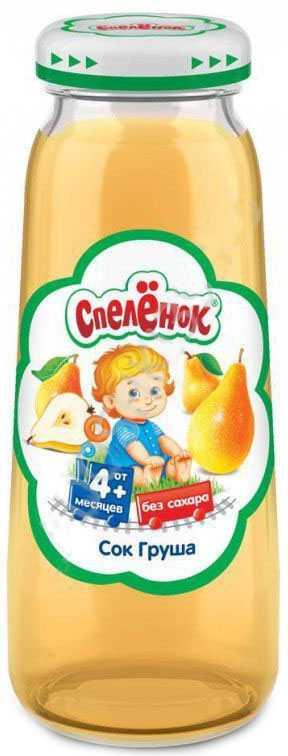Спеленок сок осветленный груша 4+ 0,2л, фото №1