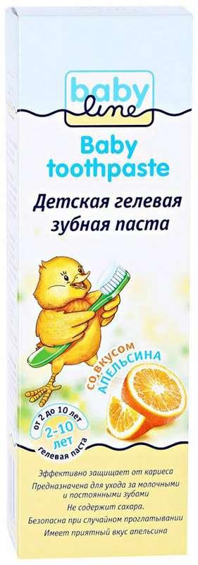 Бэбилайн зубная паста апельсин 2-10лет 75мл, фото №1
