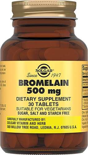 Солгар бромелайн таблетки 500мг 30 шт., фото №1