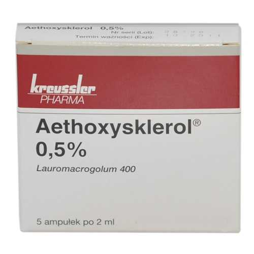 ЭТОКСИСКЛЕРОЛ раствор для внутривенного введения 0.5 % 5 шт.