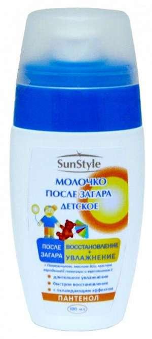 Санстайл (sun style) молочко-спрей после загара для детей увлажнение/восстановление 100мл, фото №1