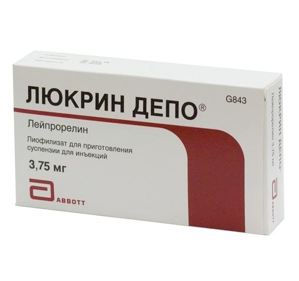 ЛЮКРИН ДЕПО 3,75мг 1 шт. лиофилизат для приготовления суспензии для внутримышечного и подкожного введения пролонгированного действия Takeda Pharmaceutical Company