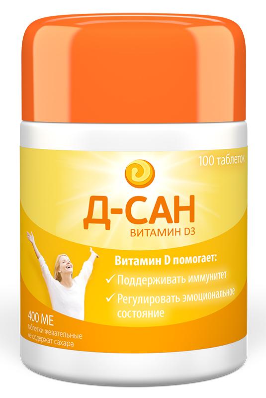 Д-сан таблетки жевательные 400ме 100 шт., фото №1