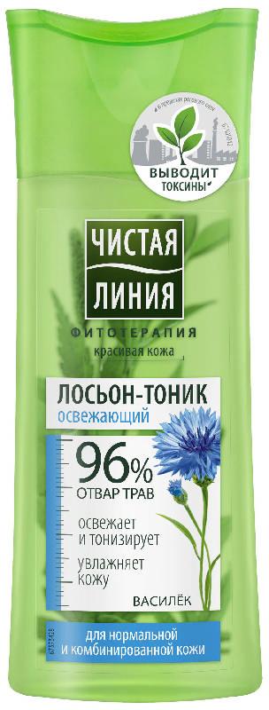 Чистая линия тоник для нормальной/комбинированной кожи василек 100мл, фото №1