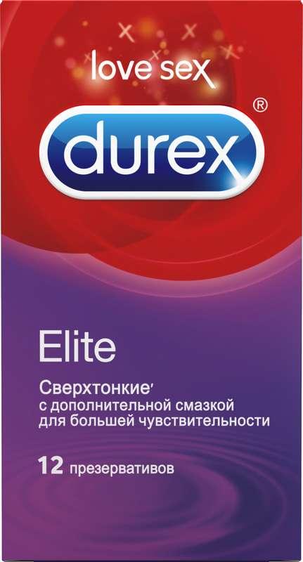 Дюрекс презервативы элит 12 шт., фото №1