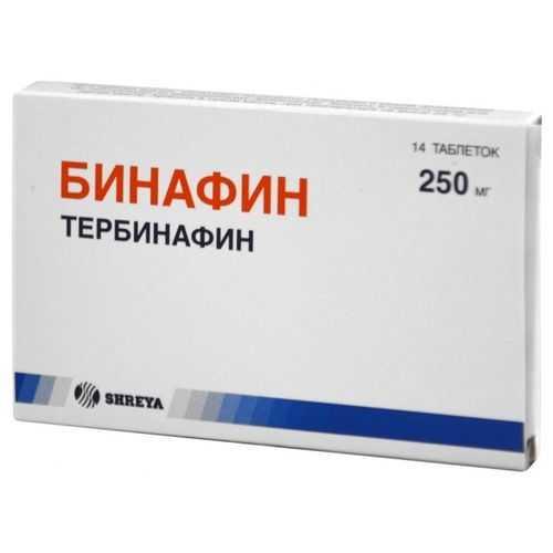 БИНАФИН таблетки 250 мг 14 шт.