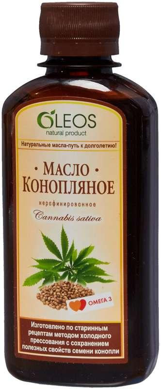 Олеос масло пищевое конопляное (питание) 200мл, фото №1