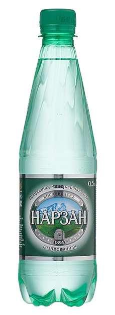 Нарзан вода минеральная газированная 0,5л бутылка пэт., фото №1