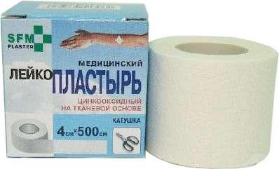 Пластырь сфм (sfm) 4х500см тканевая основа, фото №1