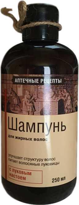 Аптечные рецепты шампунь для жирных волос с луковым настоем 250мл, фото №1