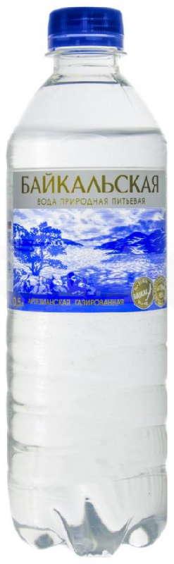 Байкальская вода питьевая газированная 0,5л, фото №1