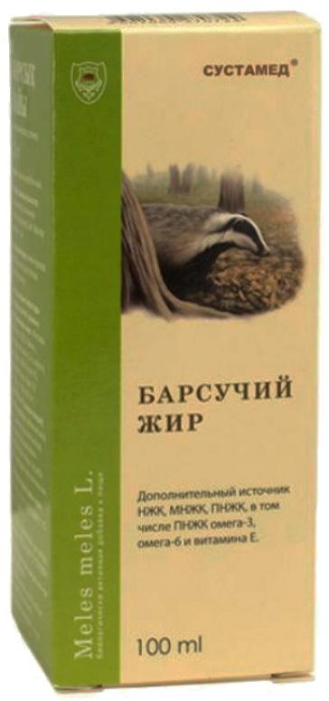 Барсучий жир жидкий 100мл, фото №1