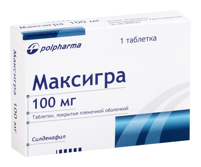 МАКСИГРА таблетки 100 мг 1 шт.