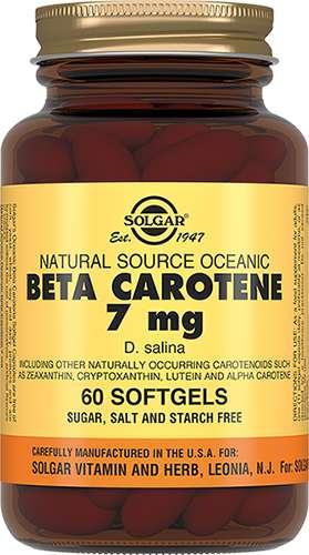 СОЛГАР БЕТА-КАРОТИН капсулы 7 мг 60 шт.