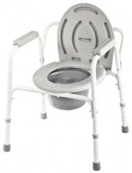 КРЕСЛО-СТУЛ для инвалидов с санитарным оснащением без колес WS Econom