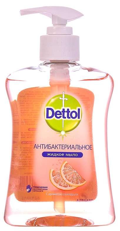 Деттол мыло жидкое антибактериальное для рук с ароматом грейпфрута 250мл, фото №1