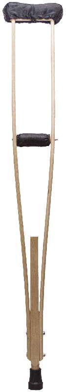 Аверсус костыли деревянные для взрослых с мягкими чехлами на подмышечники и ручки арт.743м 2 шт., фото №1