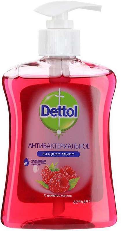 Деттол мыло жидкое антибактериальное для рук с ароматом малины 250мл, фото №1