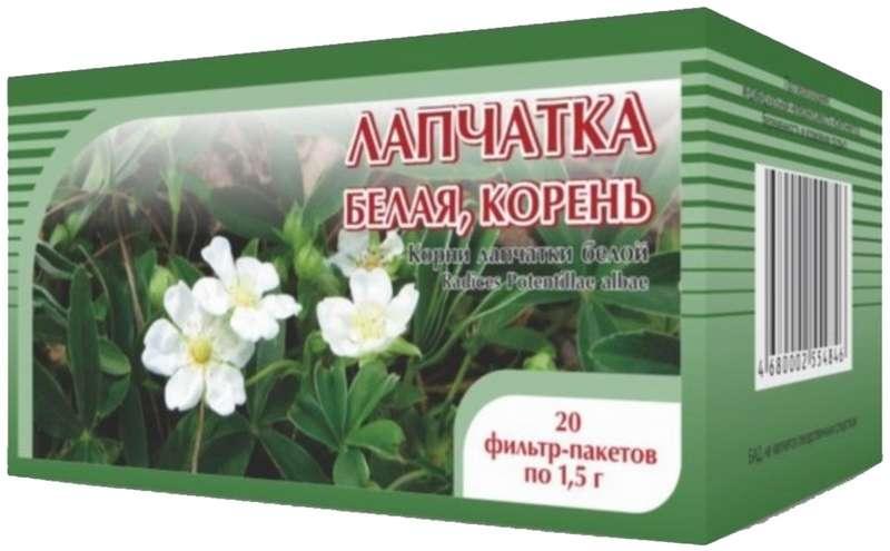 ЛАПЧАТКА БЕЛАЯ КОРЕНЬ 1,5г 20 шт. фильтр-пакет