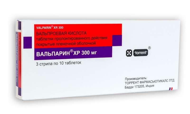 ВАЛЬПАРИН ХР таблетки 300 мг 30 шт.