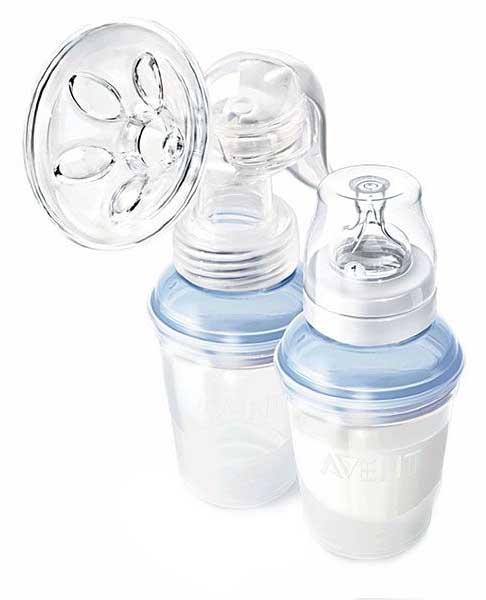 Авент набор (молокоотсос isis 86510 + бутылочка 125мл с силиконовой соской и крышкой), фото №1