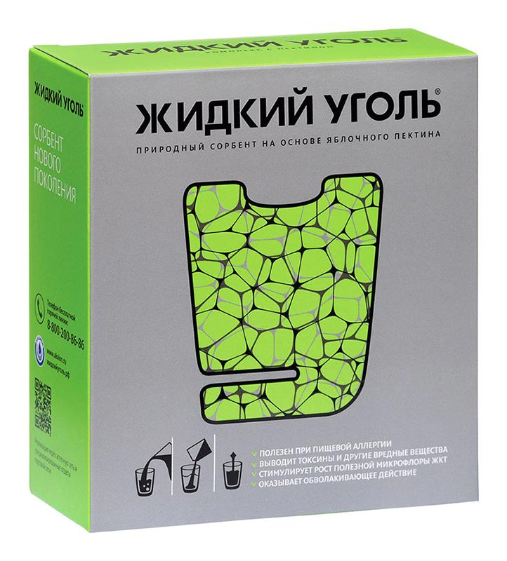 КОМПЛЕКС С ПЕКТИНОМ ЖИДКИЙ УГОЛЬ порошок для приготовления раствора 7 г 10 шт.