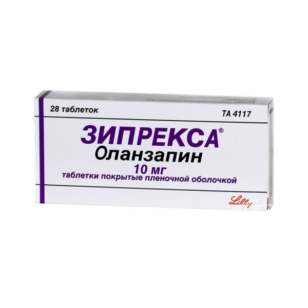 ЗИПРЕКСА таблетки 10 мг 28 шт.