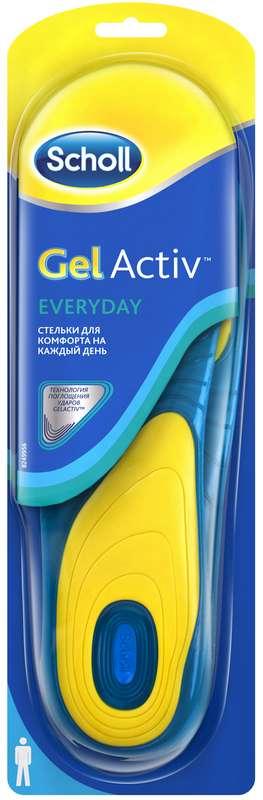 Шолл гельактив стельки для комфорта на каждый день для мужчин, фото №1