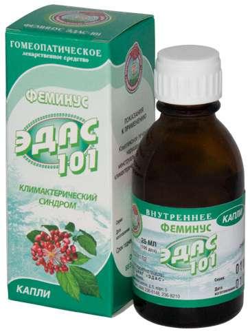 Эдас-101 25мл капли гомеопатические (фемиус), фото №1