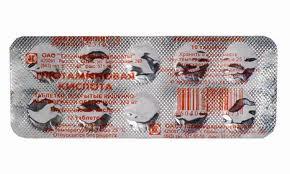 Глютаминовая кислота 250мг 10 шт. таблетки покрытые кишечнорастворимой оболочкой татхимфарм, фото №1