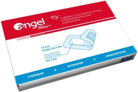 Ангел повязка пластырного типа стерильная бактерицидная 6х8 см 10 шт., фото №1