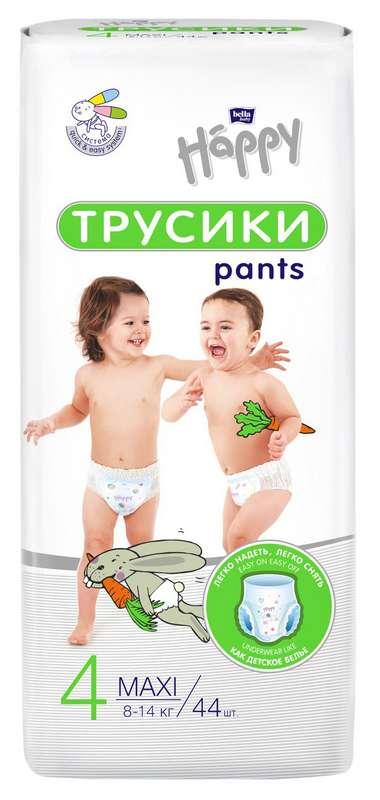 Белла беби хеппи пантс подгузники-трусы макси 8-14кг 44 шт., фото №1
