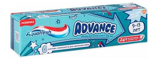 Аквафреш адванс зубная паста детская 9-13 лет 75мл де мицлен а.с., фото №1