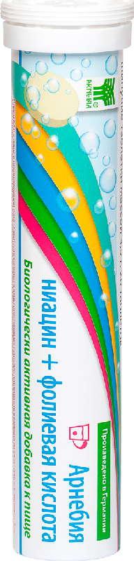 Арнебия ниацин+фолиевая кислота таблетки шипучие 4,5г 20 шт., фото №1