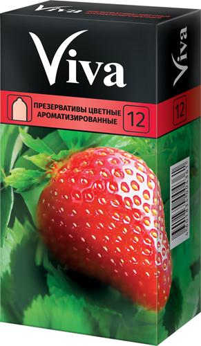 Вива презервативы ароматизированные цветные 12 шт., фото №1