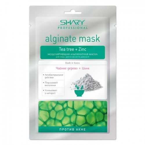 Шери маска для лица/шеи/декольте альгинатная моделирующая против акне чайное дерево/цинк 1 шт., фото №1