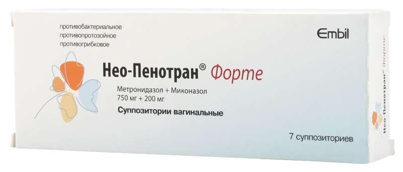 Нео-Пенотран Форте суппозитории вагинальные 7 шт.;
