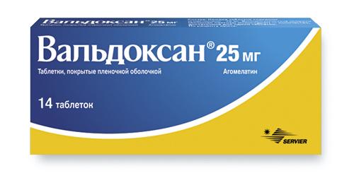 ВАЛЬДОКСАН таблетки 25 мг 14 шт.