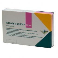 РИСПОЛЕПТ КОНСТА 25мг 2мл 1 шт. порошок для приготовления суспензии для внутримышечного введения пролонгированного действия
