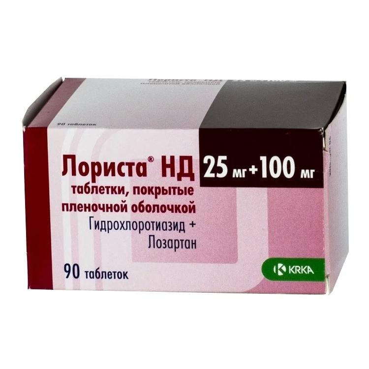 ЛОРИСТА НД таблетки 0 90 шт.