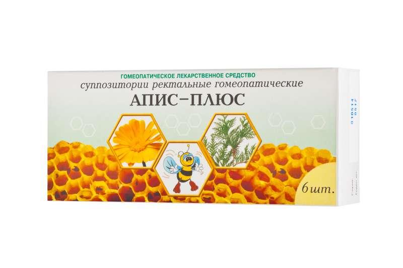 АПИС-ПЛЮС 6 шт. суппозитории ректальные гомеопатические