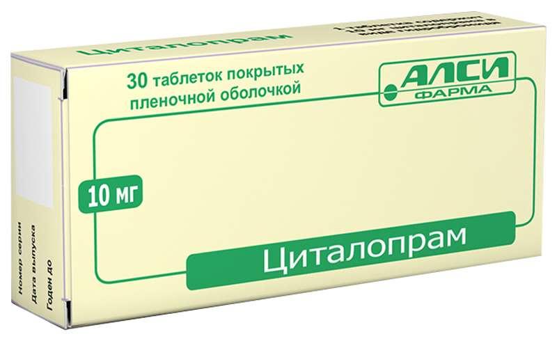 ЦИТАЛОПРАМ таблетки 10 мг 30 шт.