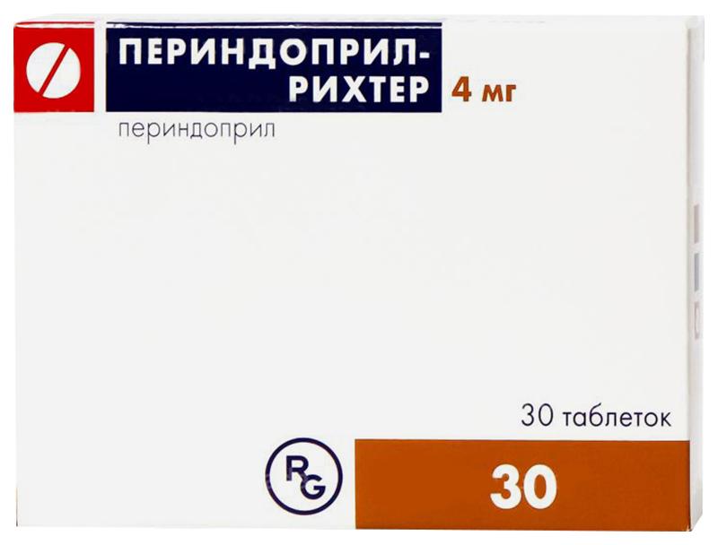 ПЕРИНДОПРИЛ-РИХТЕР таблетки 4 мг 30 шт.