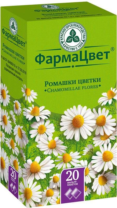 Ромашки цветки 20 шт. фильтр-пакет, фото №1