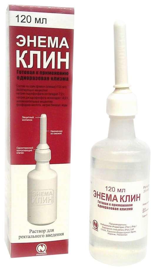 ЭНЕМА КЛИН КЛИЗМА 120мл 1 шт. раствор ректальное введение