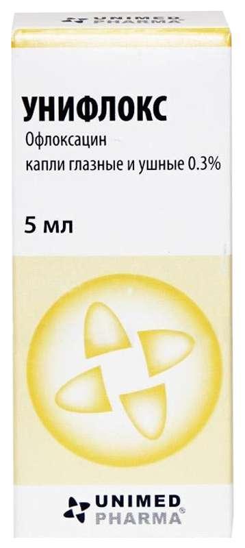 Унифлокс 0,3% 5мл капли глазные/ушные, фото №1
