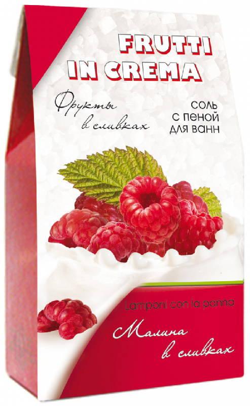 Соль для ванн frutti in crema малина в сливках 500г, фото №1