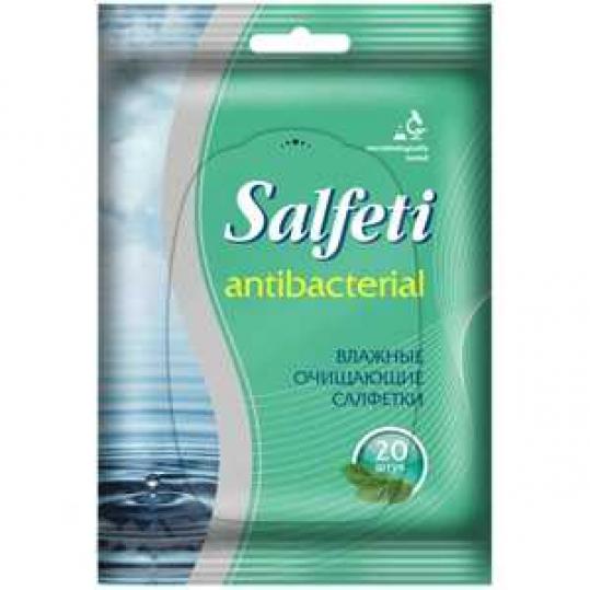 Салфети салфетки влажные антибактериальные 20 шт., фото №1